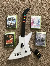 NICE Guitar Hero Xbox 360 Xplorer Explorer Wired Controller& x4 Games Lot! 🎸🔥
