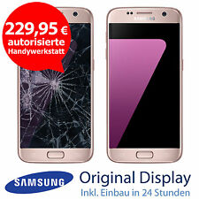 Original Samsung S7 G930F LCD Display Touchscreen Reparatur Pink Gold