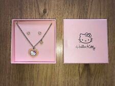 Hello Kitty silver necklace and earring jewellery gift set present