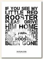 THE ROLLING STONES Little Red Rooster 2❤ song lyrics typography poster art print