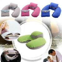 Inflatable Pillow Air Cushion Neck Head Rest U-Shape Travel Plane Car Sleeping W