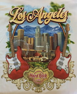 Hard Rock Cafe HOLLYWOOD (LA) 2017 City Tee T-SHIRT Mens Size XL NEW with TAGS