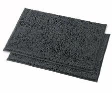 "Charcoal Bath Mat Plush PVC Material Non Slip Back 16"" X 24"""
