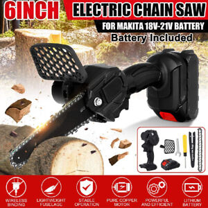 550W 6'' Mini Chainsaw 24V Cordless Rechargeable Electric Saw For Makita Battey