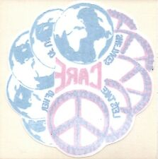 """Take Care of Earth Peace Sign 5""""x5"""" Window STICKER DECAL"""