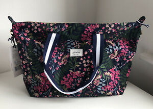 New Joukes Weekend Floral Tote Shopping Gym Bag Hold All -No Toiletries Just Bag