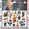 Kids Temporary Tattoos Sticker Lego Hero Body Art Removable Waterproof Party Bag