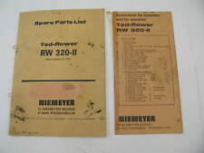 Ted Rower Spare Parts List & Assembly Instructions RW 320-II Machine 1101