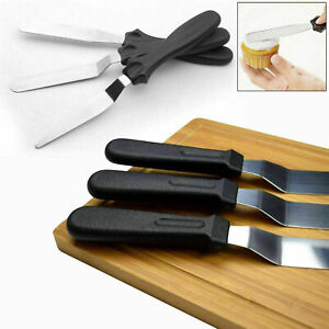 3pcs Stainless Steel Spatula Palette Knife Set Cake Decorating Smooth Tools Kit