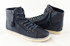 UGG Australia Blaney Racing Stripe Blue Leather Sneakers Size 9 NEW IN BOX