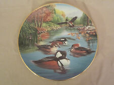 Hooded Mergansers In July collector plate Ken Michaelsen Wildlife Sporting Year