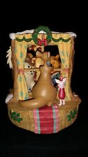 Disney Winnie-the-Pooh Christmas At Our House Music Box Figurine 1995