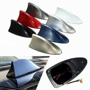 Shark Fin Roof Antenna Aerial FM/AM Radio Signal Decoration Car Trim Universal