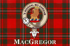 Men's Ladies T SHIRT cool clan MacGregor tartan image Scottish Scots crest