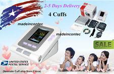 CONTEC08A Digital automatic blood pressure monitor+4 Cuffs US FDA,PC Software