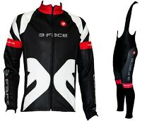 Completo invernale ciclismo giacca + salopette termica windstopper made in Italy