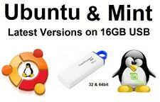 Linux Ubuntu 18.04.01 + Linux Mint 19 on 16gb Kingston USB 32 and 64 bit