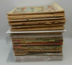 HUGE Low Grade Lot! 110 Coverless Comics, Some Incomplete/Unknown 1940s-70s!