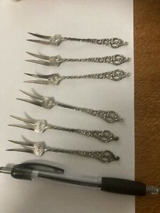 Norway Sterling Silver Hors D'oeuvres Forks