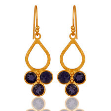 Beautiful Iolite 925 Sterling Silver Dangle Earring OutStanding Jewelry