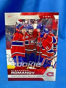 2021 Topps Now NHL Stickers Alexander Romanov #223 Montreal Canadiens RC