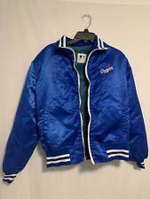 Vintage LA Dodgers Satin Jacket Men's Fur Lined Zip Blue