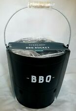 Sterling Goods BBQ Bucket Grill Portable Charcoal Grill Tailgating Picnics Beach