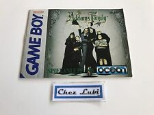 Notice - The Addams Family - Nintendo Game Boy - PAL NOE