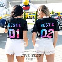 Bestie 01 Bestie 02 Shirts Matching Bestie Shirts BFF T-Shirts Gift Idea for BFF