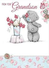 ME TO YOU FROM YOUR GRANDSON MOTHER'S DAY CARD TATTY TEDDY BEAR NEW