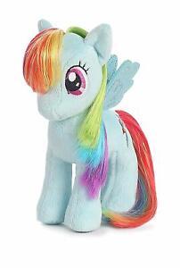 "Aurora My Little Pony 6"" Plush Figure Rainbow Dash Mylar Hair Discontinued NEW"