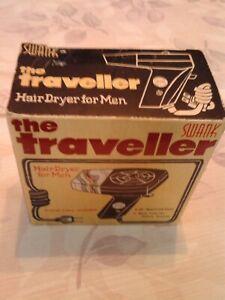 "Vintage Swank Portable ""The Traveller"" Hair Dryer"