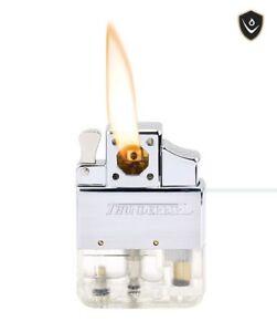 KGM Vector Butane Flip Top PIPE Lighter Insert PIEZO IGNITION Brand NEW
