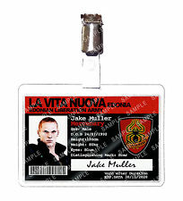 Resident Evil 5 Jake Muller Army La Vita Nuova ID Badge Card Cosplay Comic Con