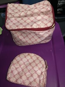 Ralph Lauren  set of 2 cosmetic travel toiletries bag large 9x7x6 small 7x6 nice