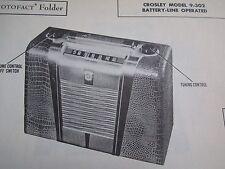 CROSLEY 9-302 RADIO PHOTOFACT