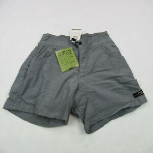 REI Shorts Women's Medium Gray Regular Fit Maverik Cycle Shorts Casual Hiking