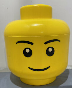 Genuine Large LEGO Brick Box Yellow Head 4032 Container Up To 5kg Face Emoji :-)