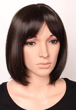 Fashion Short Straight Bob Wig Synthetic Hair Full Wigs Real Heat Resistant Hair