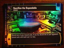 Star Wars TCG ROTS Sacrifice the Expendable FOIL 31/110