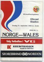 EM-Qualifikation 21.09.1983 Norwegen / Norway - Wales