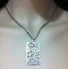 """❤️Lois Hill for Tommy Bahama Flower Pendant Necklace Sterling Silver 18"""" NWT"""
