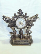 Atlas  Carrying Vessel Of Harvest Clock Statue Figures Sculpture Ship Immediatel