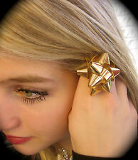 RARE AUTHENTIC Kate Spade NY Bourgeois Bow Gold Ring Size 7 GIFT HOLIDAY