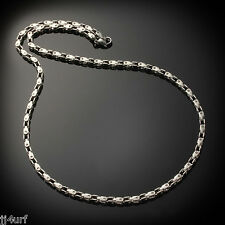Men's Stainless Steel Open Box Link Chain Necklace, 23 inch by Struttura
