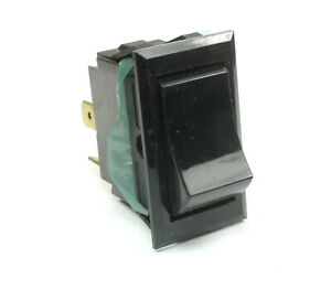 1pc McGILL Black SPST Rocker Switch, On/Off Basic Switch , 6A at 125VAC Two Pins