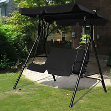 Medium image of garden patio metal swing chair seat 2 seater hammock bench swinging cushioned
