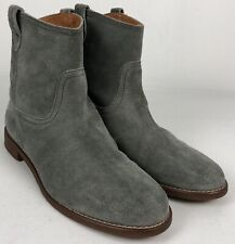 Madewell The Otis Boots US 8.5 Gray Suede Pull Up Leather B1200