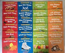 Seasons Lot 24 Science Learn to Read Children's Books Nonfiction Readers Set NEW