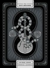 The Avett Brothers 8/31/2014 Poster Las Vegas N3 Signed & Numbered #/200 Metalic